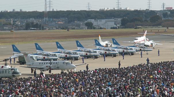 入間航空祭には、29万人もの人が訪れた [photo: Travel Online News]