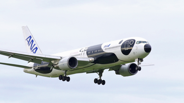 ANA ボーイング767-300ER  「FLY! PANDA」 [photo: Travel Online News]