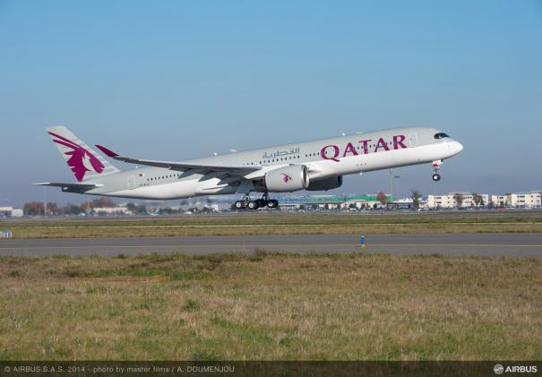 カタール航空のAirbus A350-900 [photo: Airbus]