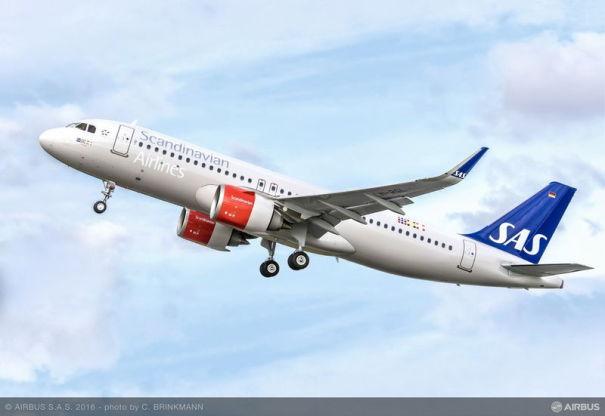 SASが受領した、エアバスA320neoの1号機