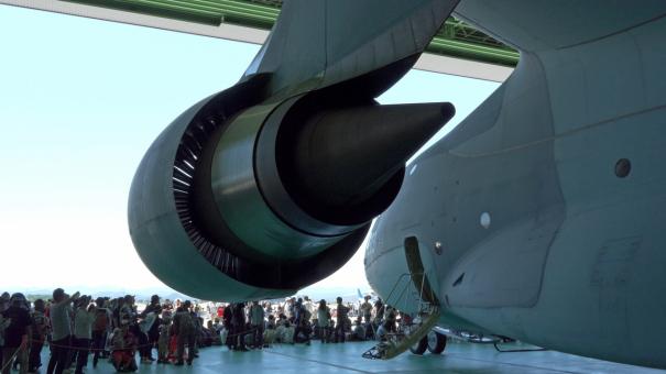 C-2輸送機のエンジン