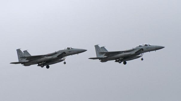 F-15の航過飛行