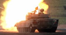 90式戦車の実弾射撃